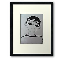 Young Justice Robin Civies Framed Print