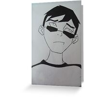 Young Justice Robin Civies Greeting Card