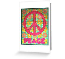 Peace with Flowers Greeting Card