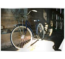 Bike Inside Grandpa's Old Barn Poster