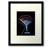 Neon Martini Framed Print