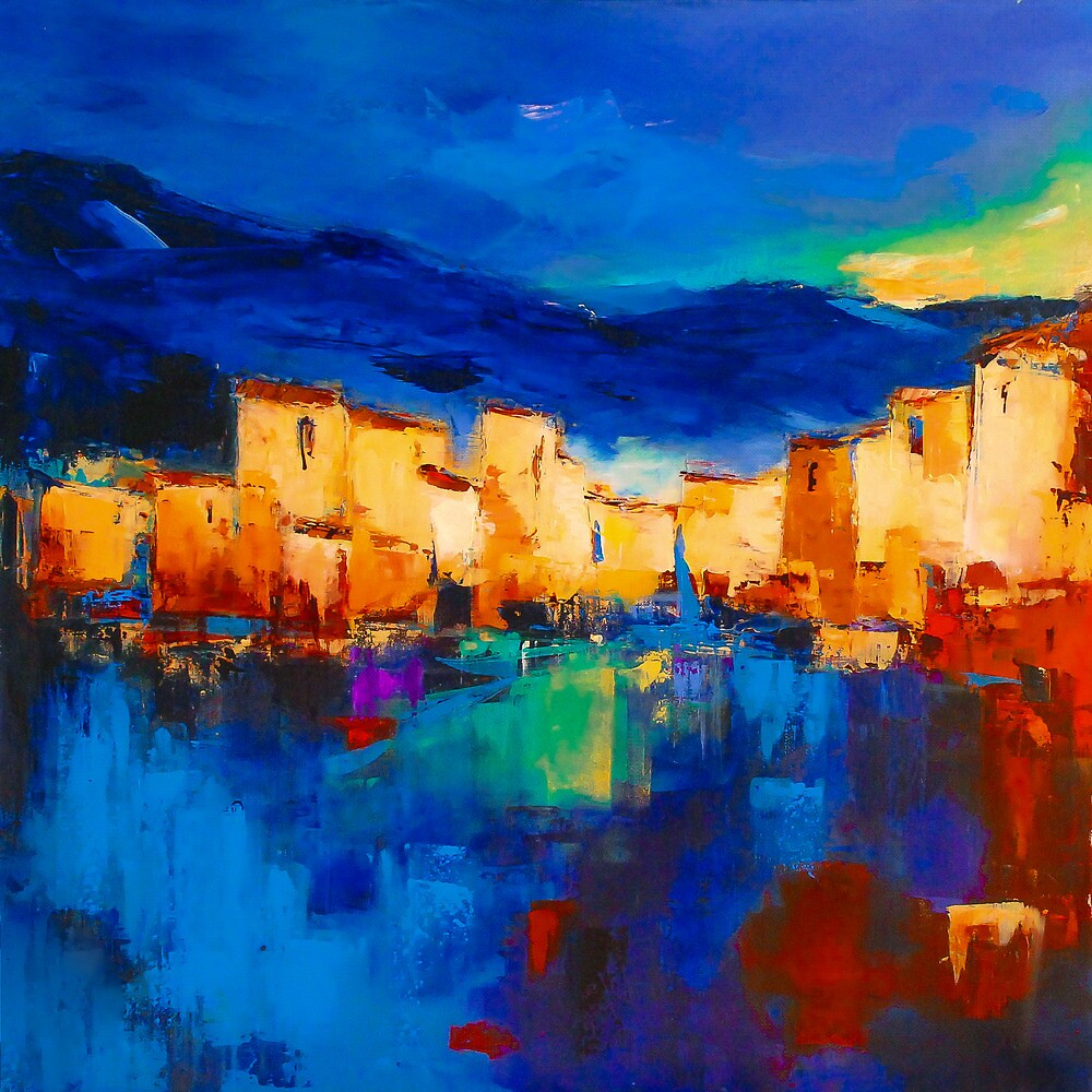 Sunset over the Village by Elise Palmigiani