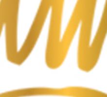 The crown tee Sticker