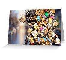 Amsterdam Love Locks Greeting Card
