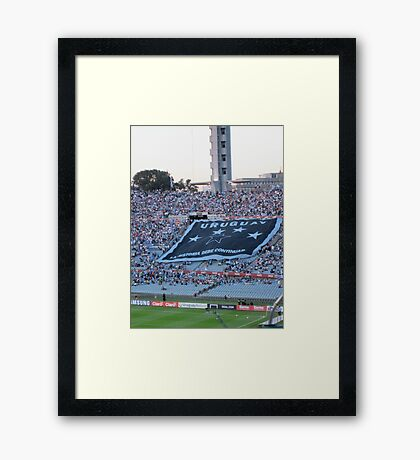 Uruguay- La Historia Debe Continuar Framed Print