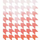 Pink Twisted Houndstooth by The RealDealBeal