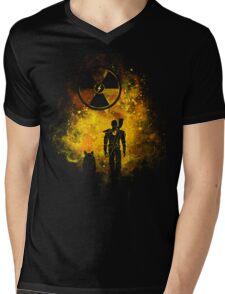 Wasteland Art Mens V-Neck T-Shirt