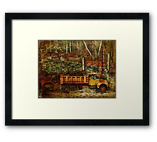 Abandoned Kiln and Truck Framed Print