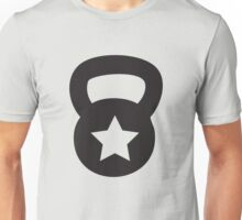 Black Kettlebell With A Star Unisex T-Shirt