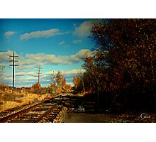 """"""" The Sunny Side Of The Tracks """" Photographic Print"""