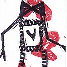 Dapper Dandy Skeleton Valentine by craftyhag