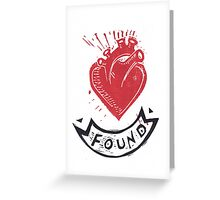 Found Love tattoo inspired valentine Greeting Card