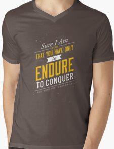 Endure (gold) Mens V-Neck T-Shirt