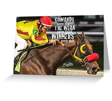 Winners Never Quit Greeting Card