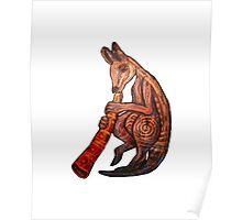 Didgeridoo Kangaroo Poster