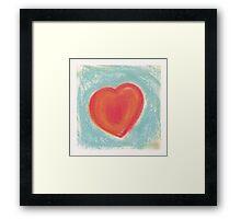 Heart for my Valentine Framed Print