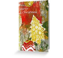 Xmas Card Design 105 in Traditional Colours Greeting Card