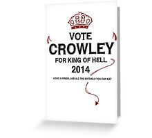 Vote Crowley (black) Greeting Card