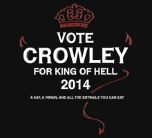 Vote Crowley (white) by typelocked