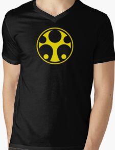 Hunter Yellow Mens V-Neck T-Shirt