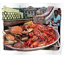 Crab Boil on Broad Poster