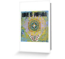 Love Is Possible/Butterfly & Mandala Greeting Card