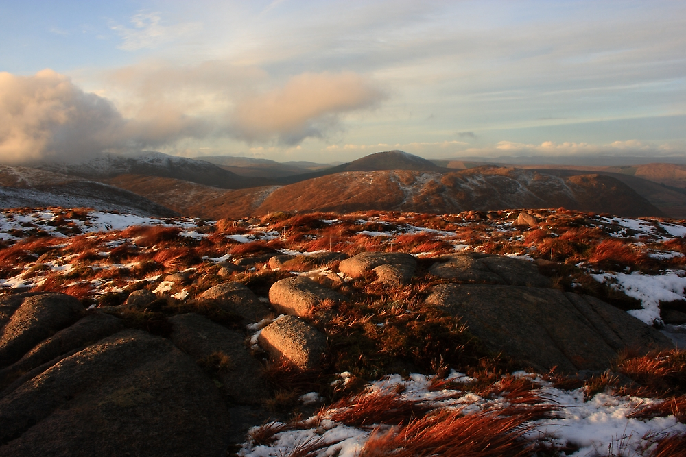 Warm Light On Cold Croaghnageer by Adrian McGlynn
