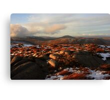Warm Light On Cold Croaghnageer Canvas Print
