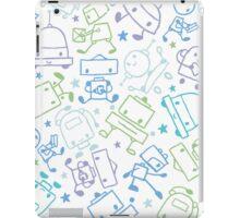 Doodle robots pattern iPad Case/Skin