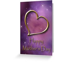 Mother's Day Gold Heart Greeting Card