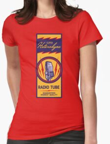 Radio Tube Box Womens Fitted T-Shirt