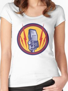 Vintage Microphone Women's Fitted Scoop T-Shirt