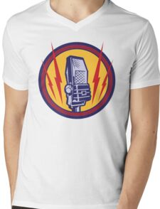 Vintage Microphone Mens V-Neck T-Shirt