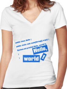 Hello, World! Women's Fitted V-Neck T-Shirt