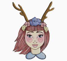 Deer Girl - Red by HungryDesigns