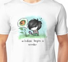 Wisdom Begins in Wonder Unisex T-Shirt