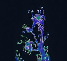 Neon Flowers by Schyljuk