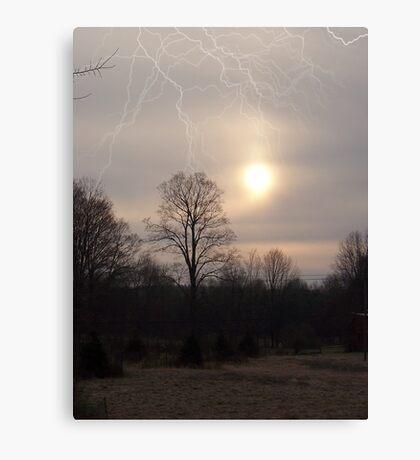 Faux Lightning Canvas Print