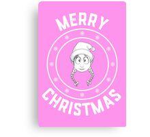 Emilie's Merry Christmas Logo Canvas Print