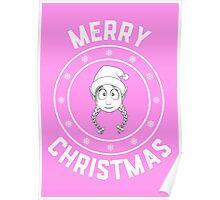 Emilie's Merry Christmas Logo Poster