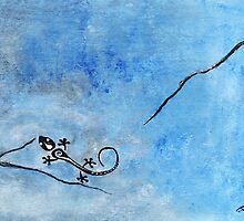Blue Nile Lizard by SherryAllenArt