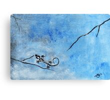 Blue Nile Lizard Canvas Print