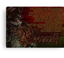 Beowulf Arrives for Battle Canvas Print