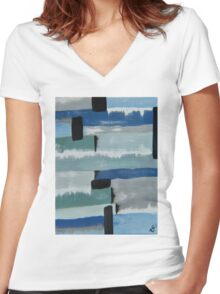 Calm Women's Fitted V-Neck T-Shirt