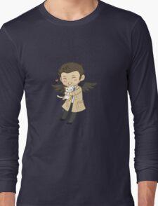 Cas Supernatural Chibi Long Sleeve T-Shirt