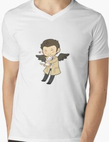 Cas Supernatural Chibi Mens V-Neck T-Shirt
