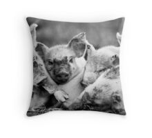 A Pile of Piglets! Throw Pillow
