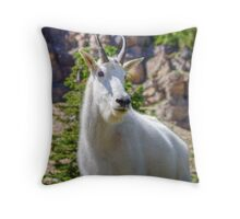 Goat pose Throw Pillow