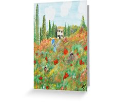 My Field Of Poppies Greeting Card