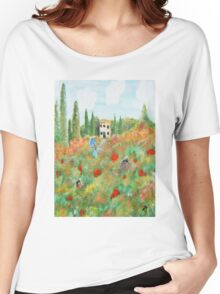 My Field Of Poppies Women's Relaxed Fit T-Shirt